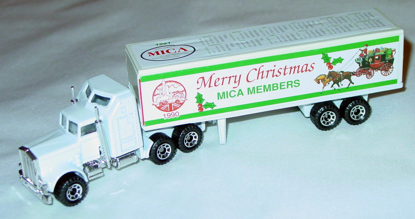 Convoy 09 A 20 - Kenworth Box truck White Merry Christmas 1990 MICA