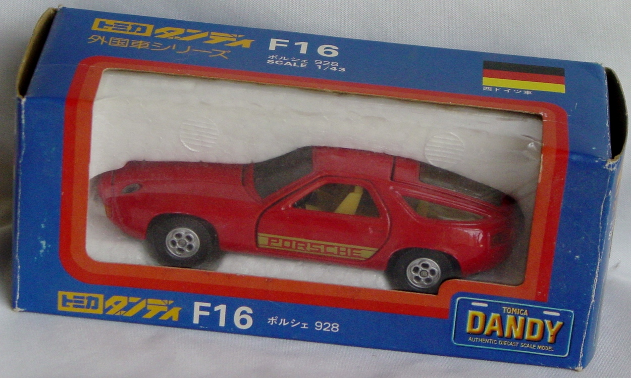 43 - TOMICA DANDY F16 Porsche 928 Red