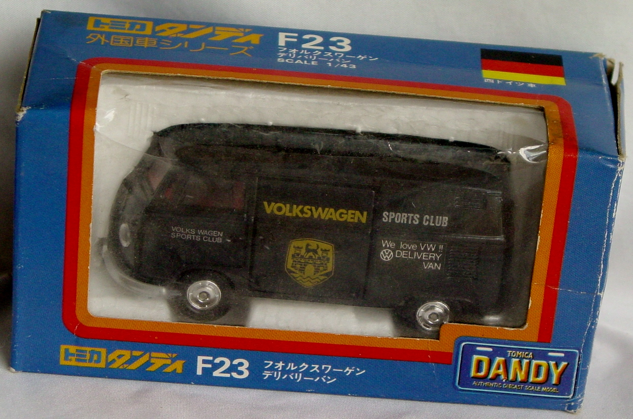 43 - TOMICA DANDY F23 VW Bus Black VW Sports Club