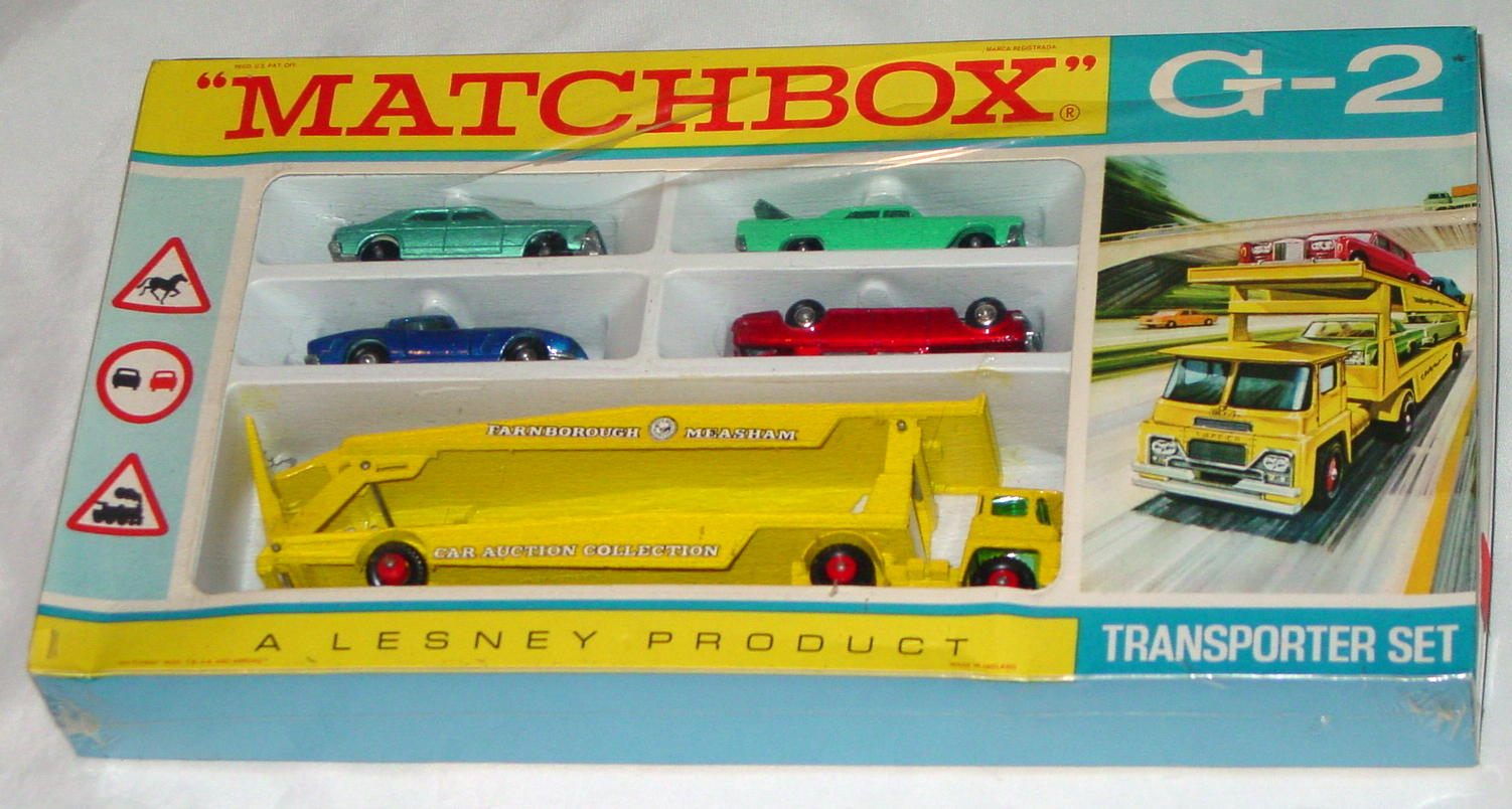 Matchbox 02 A 6 - Transporter Set Sealed slight rip in cello