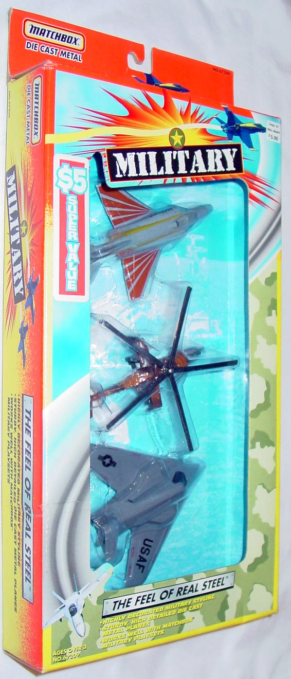 Matchbox 67209 Military Skybusters 3 SBs