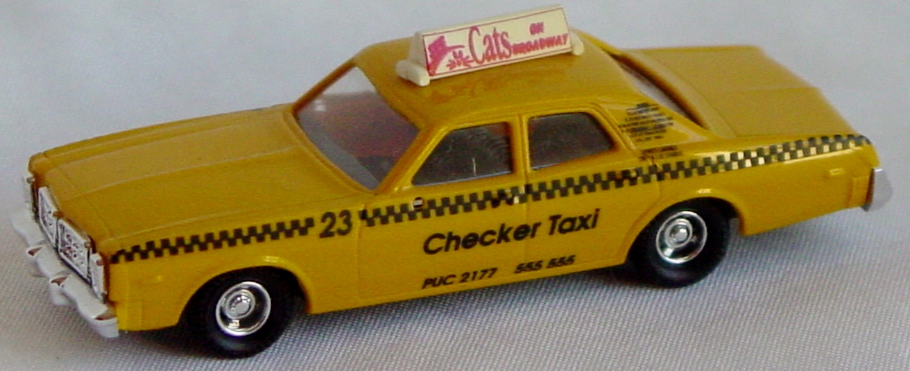 87 - PRALINE Checker Taxi