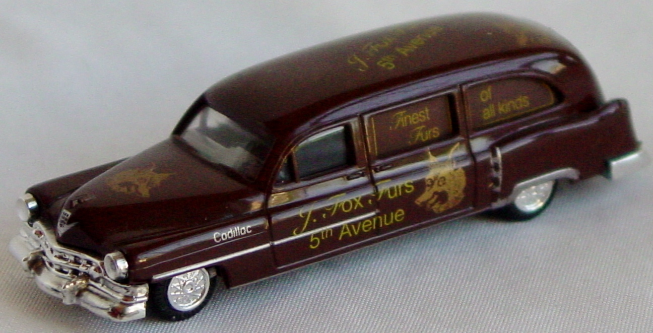 87 - PRALINE 54 Cadillac Hearse dark Brown J Fox Furs