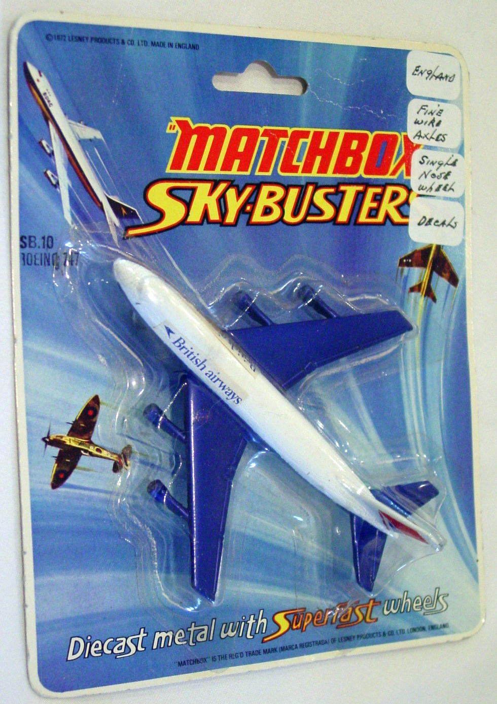Sky Buster 10 A 2 - Boeing 747 White and Blue thin axle Brit Airways ENG C9 BP