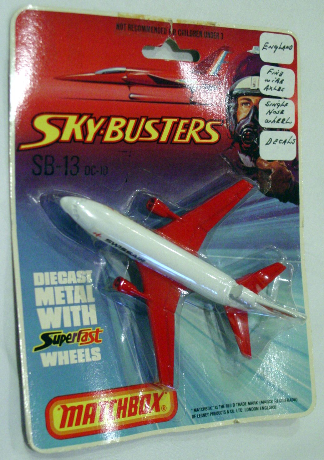 Sky Buster 13 A 1 - DC-10 Swissair labels thin axles C8.5 BP