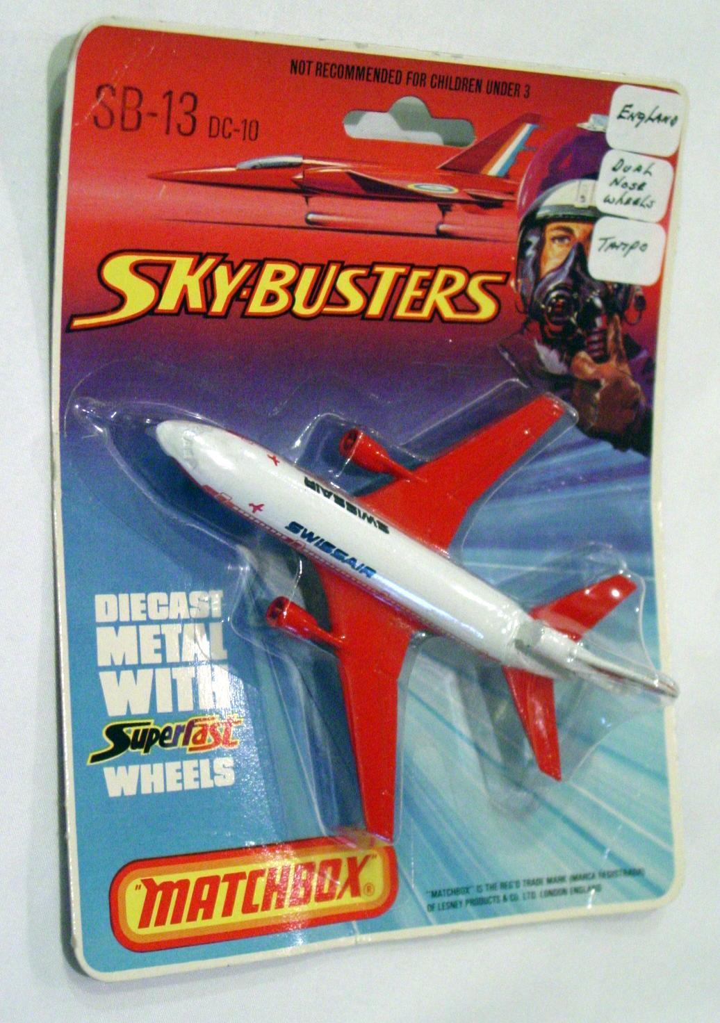 Sky Buster 13 A 4 - DC-10 White/red Swissair thick axles ENG C8.5 BP