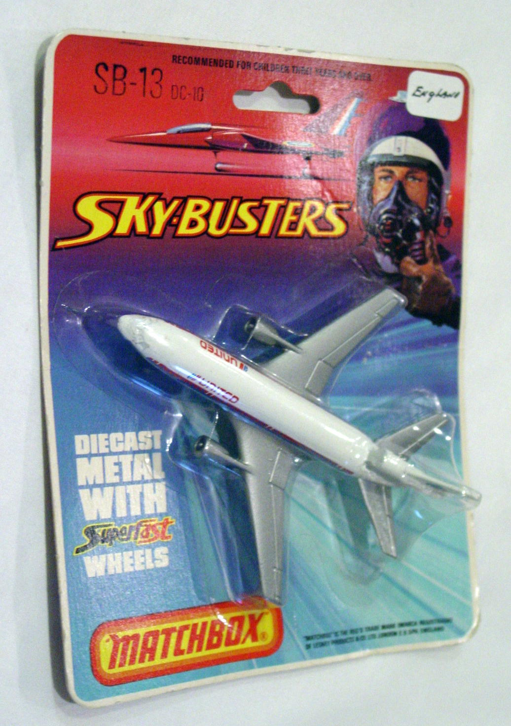 Sky Buster 13 A 6 - DC-10 White United ENGLAND C9 BP