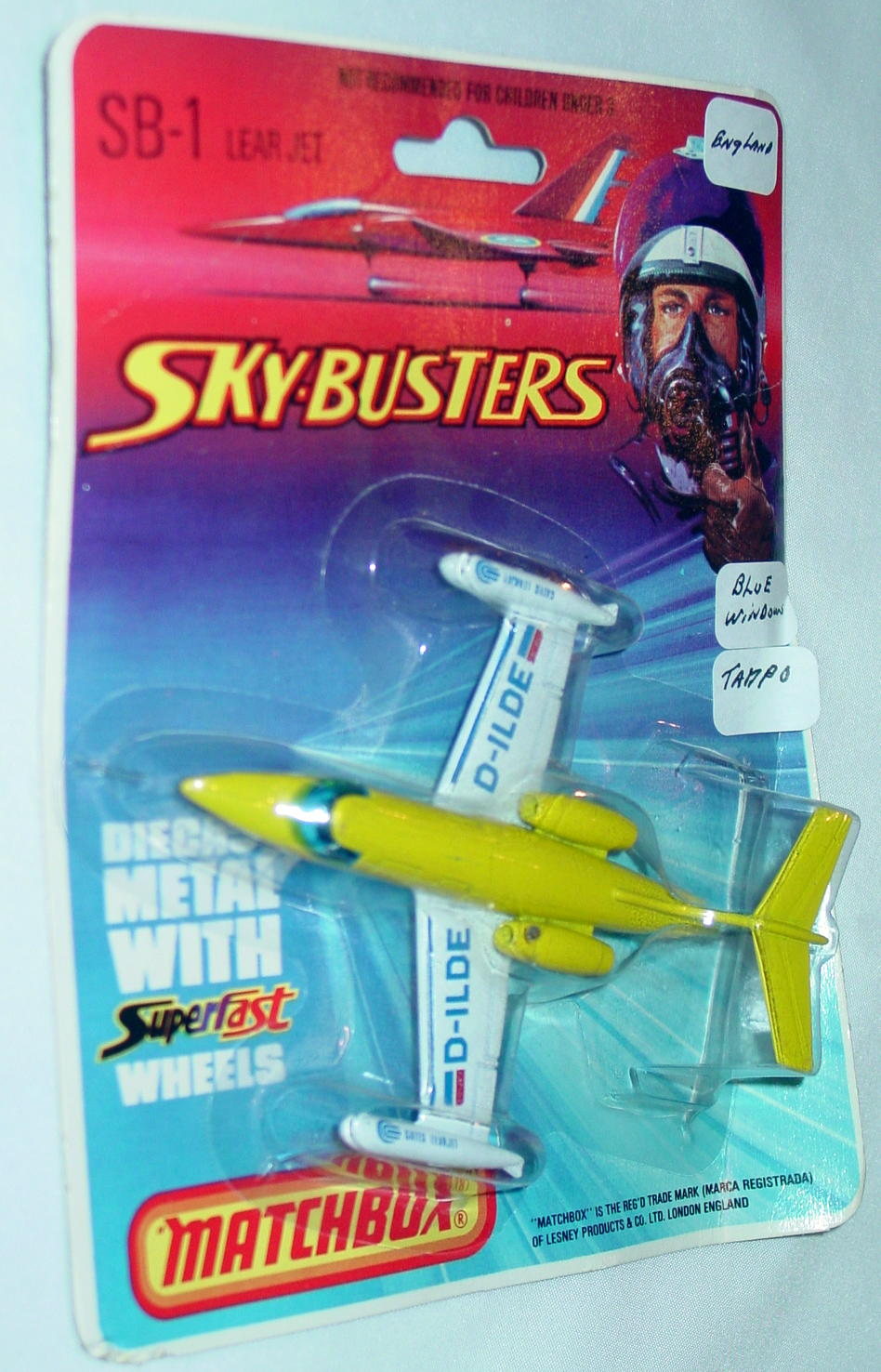 Sky Buster 01 A 3 - Leer Jet Yellow DL-ILDE tampo blue window ENG C8.5 BP