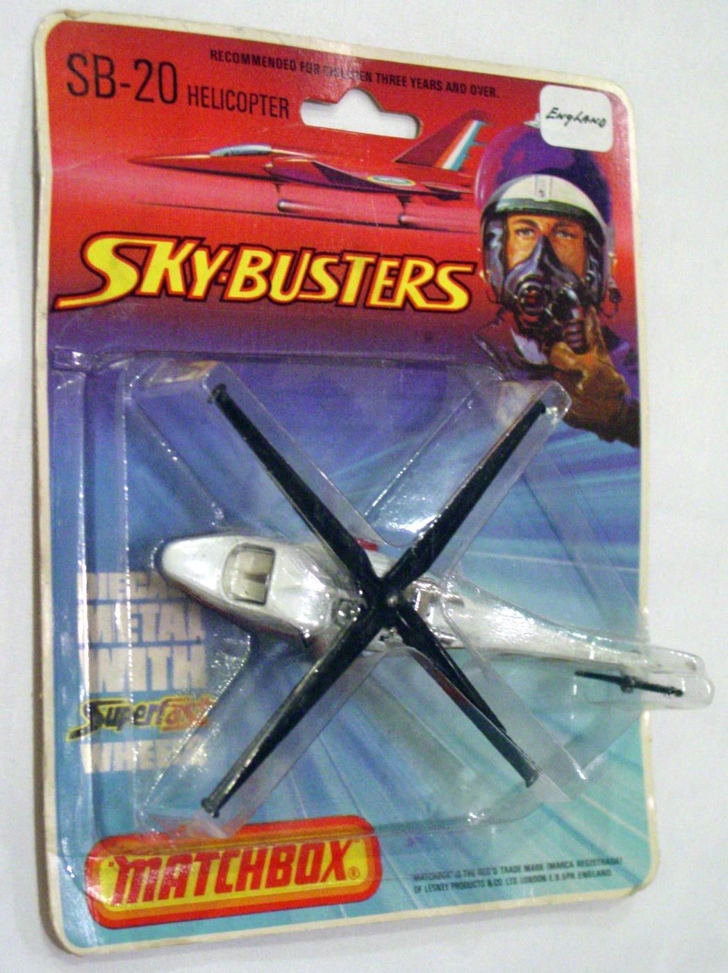 Sky Buster 20 A 3 - Helicoptor White Police ENGLAND C9- BP