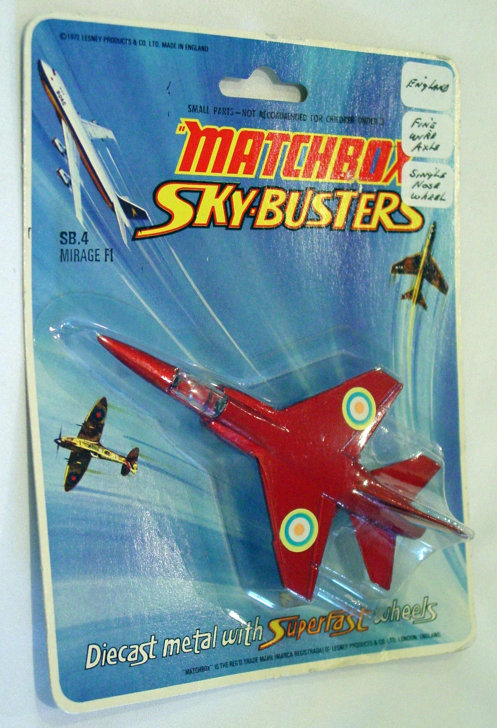 Sky Buster 04 A 1 - Mirage F1 Red clear window thin axles ENGLAND C9+ BP