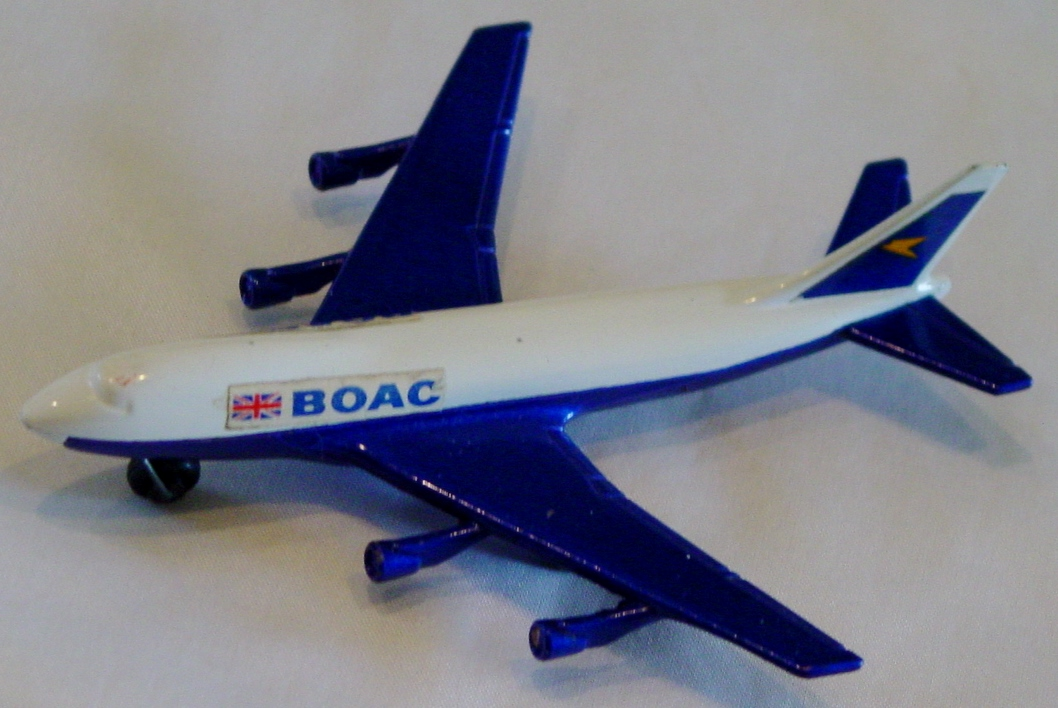 Sky Buster 10 A 1 - Boeing 747 White and Blue thin axle BOAC two slight chips ENGLAND