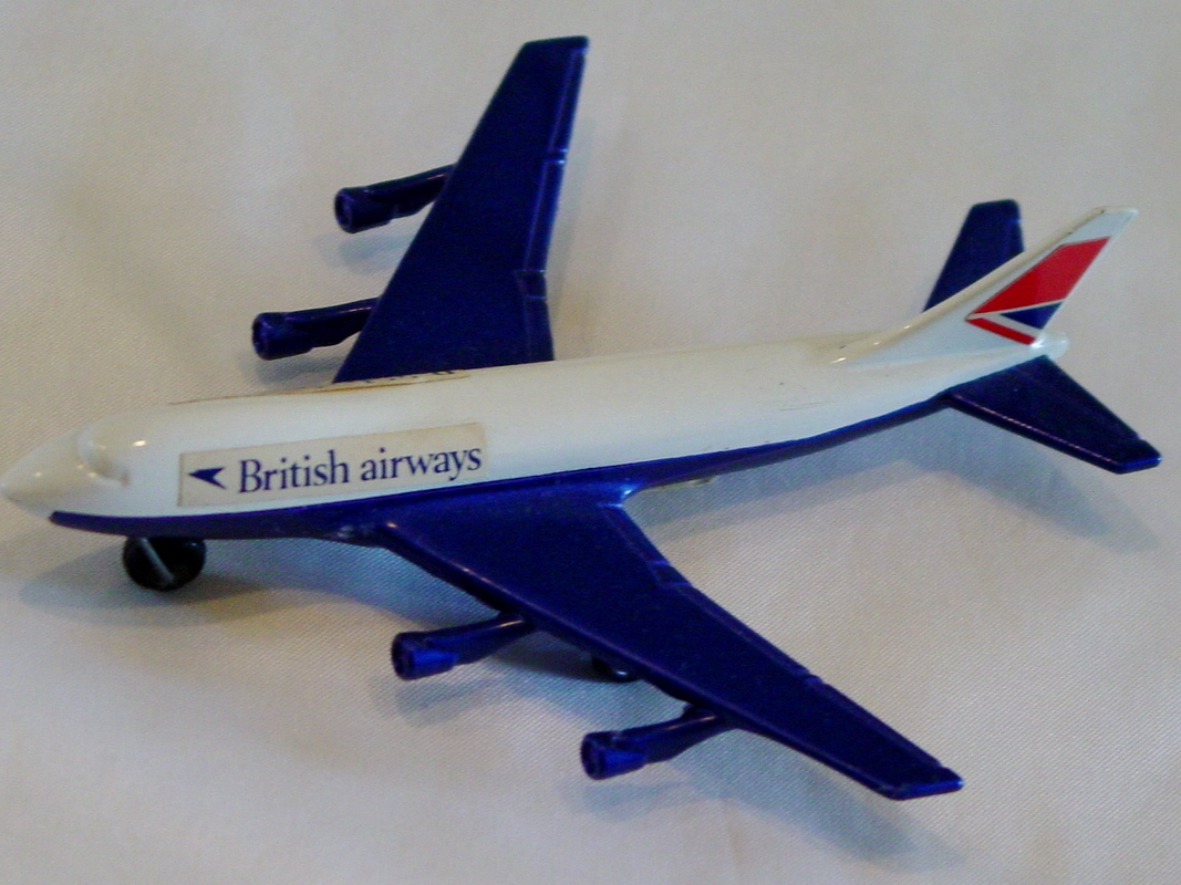 Sky Buster 10 A 2 - Boeing 747 White and Blue thin axle Brit Airways ENG