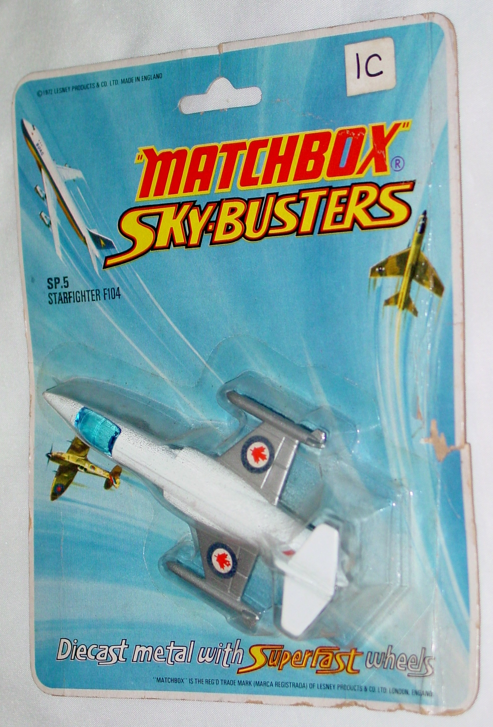 Sky Buster 05 A 1 - Starfighter F104 thin axles leaf to rear ENG C9 BP