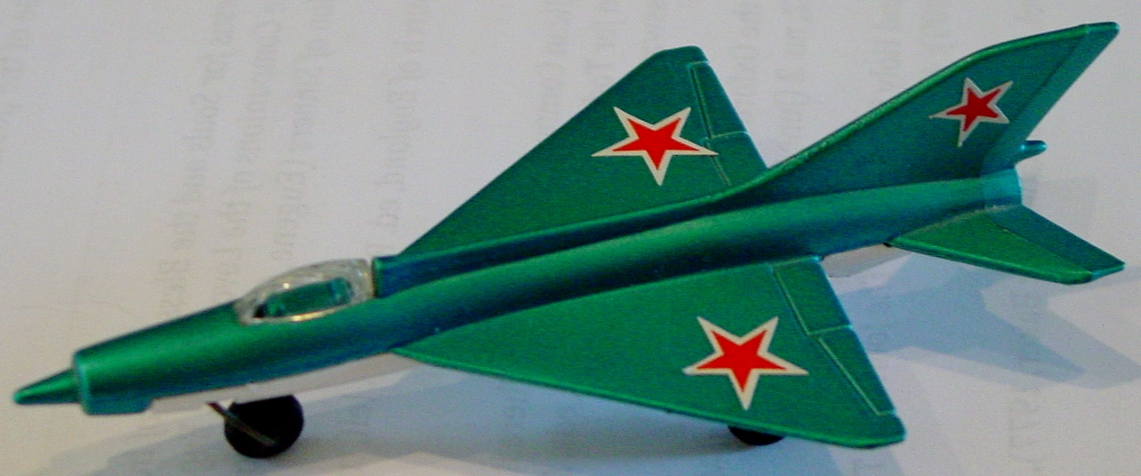 Sky Buster 06 A 2 - MIG 21 Blue and white cut star tail label thin axle ENG