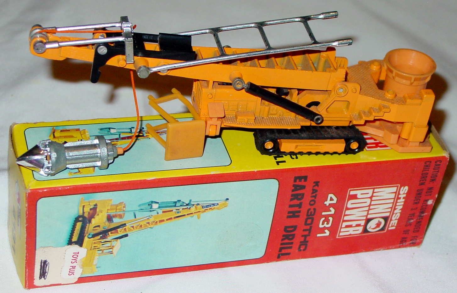 88 - SHINSEI 4131 Kato Earth Drill Org-Yellow C9 Box