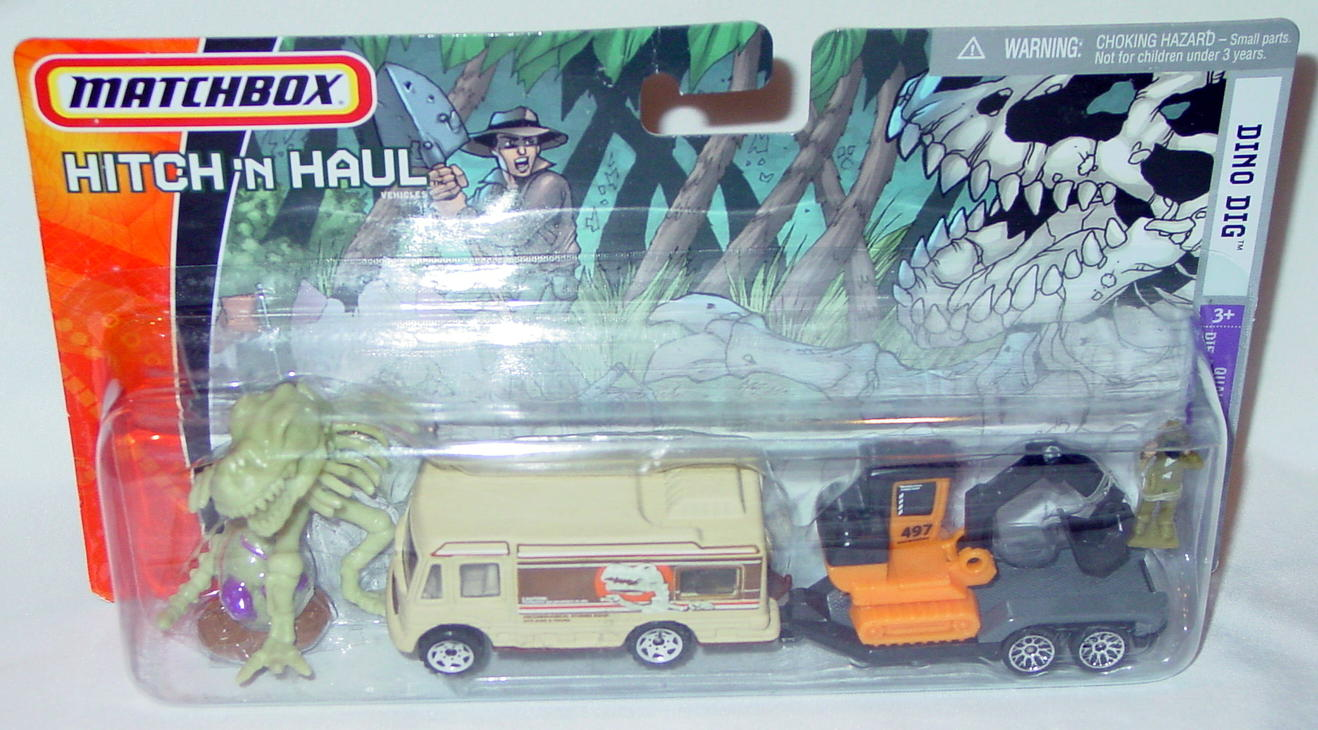 Twin Pack - HITCHNHAUL 2006 Dino Dig Truck Camper Exc. trailer