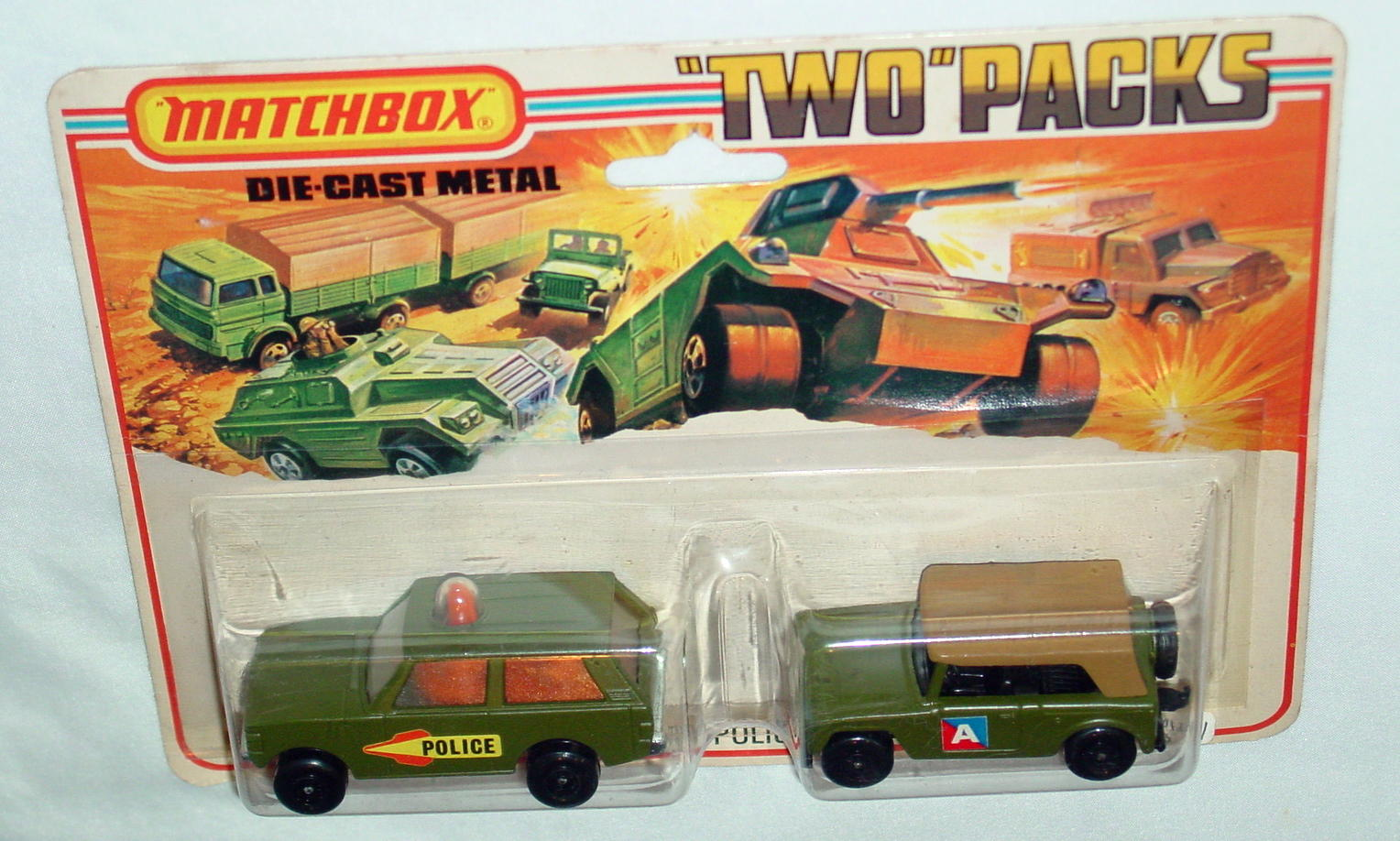 Twin Pack 12 A 3 - olive 20B12 Police olive 18A4 Field Car C9.5 Tall