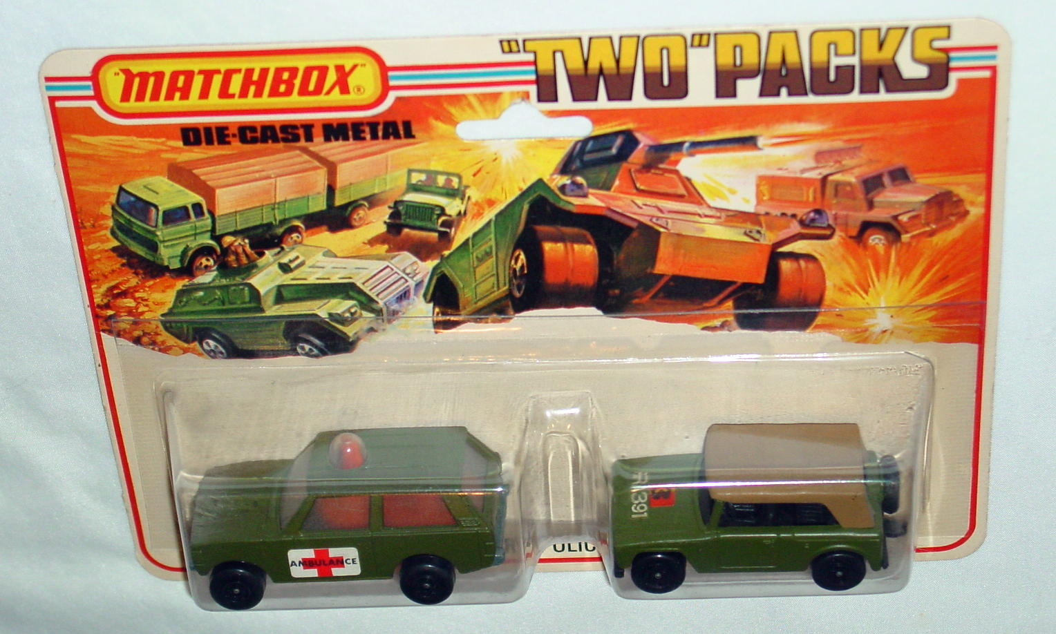 Twin Pack 12 A 4 - olive 20B16 Police Amb 18A5 Field Car open BP