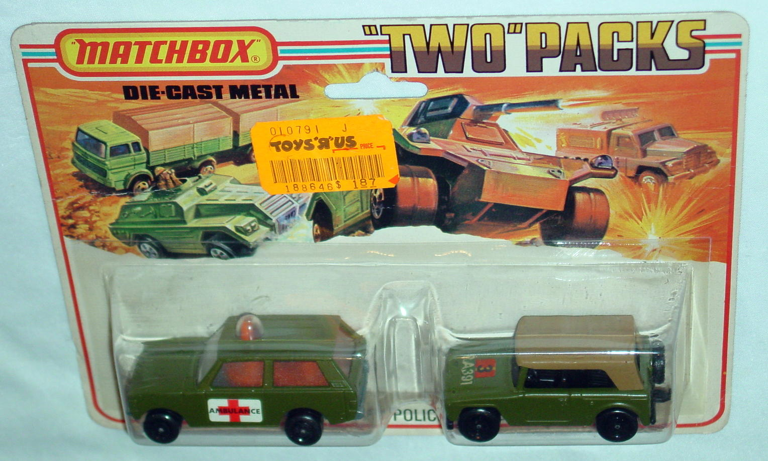 Twin Pack 12 A 4 - olive 20B15 Police 18A5 Field Car C9+ Tall card