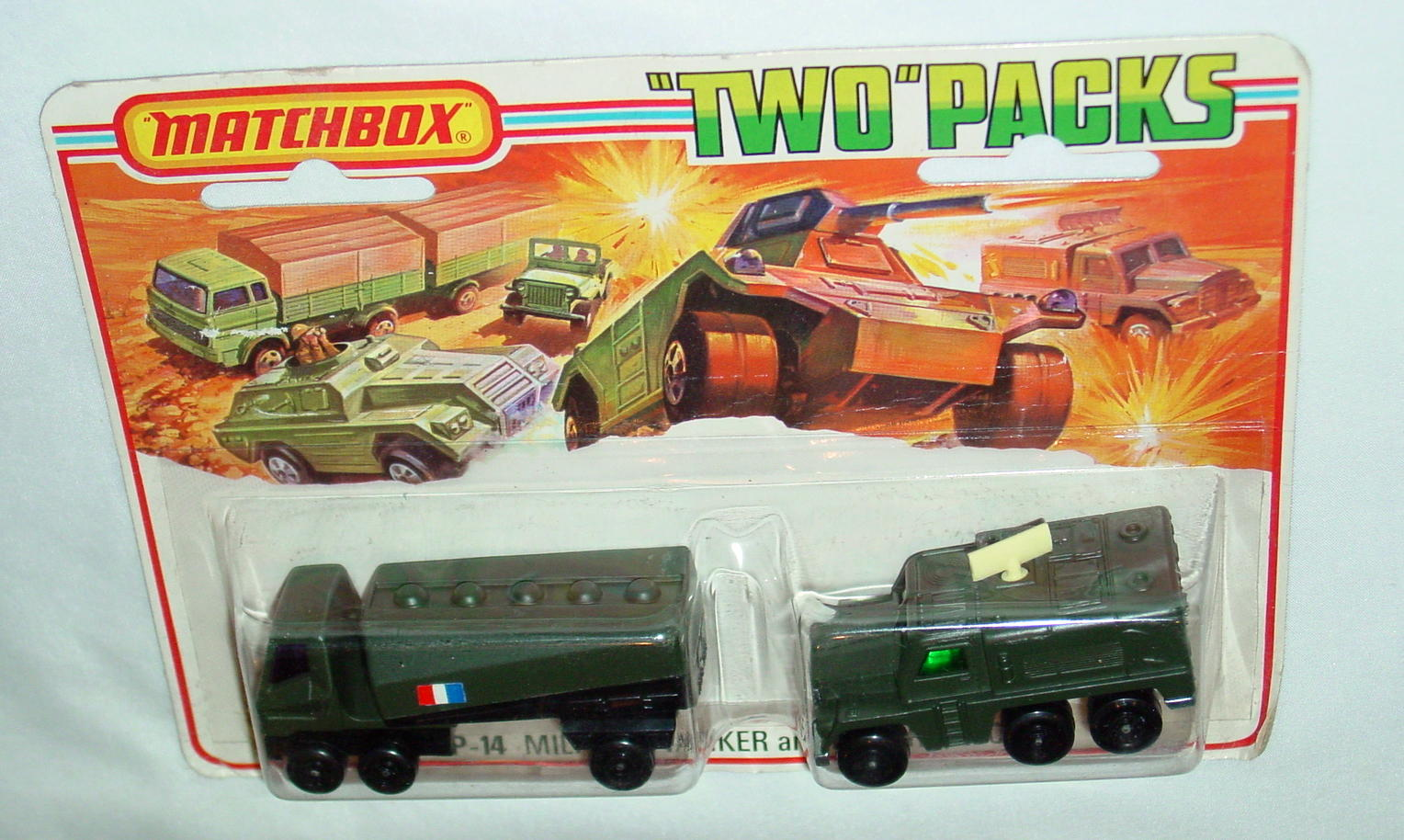 Twin Pack 14 A 2 - OL DRAB 63B6 Tanker French 16A3 Badger open BP