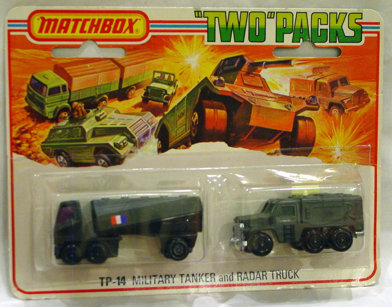 Twin Pack 14 A 2 - OLIVE DRAB 63B6 Tanker French 16A3 Badger
