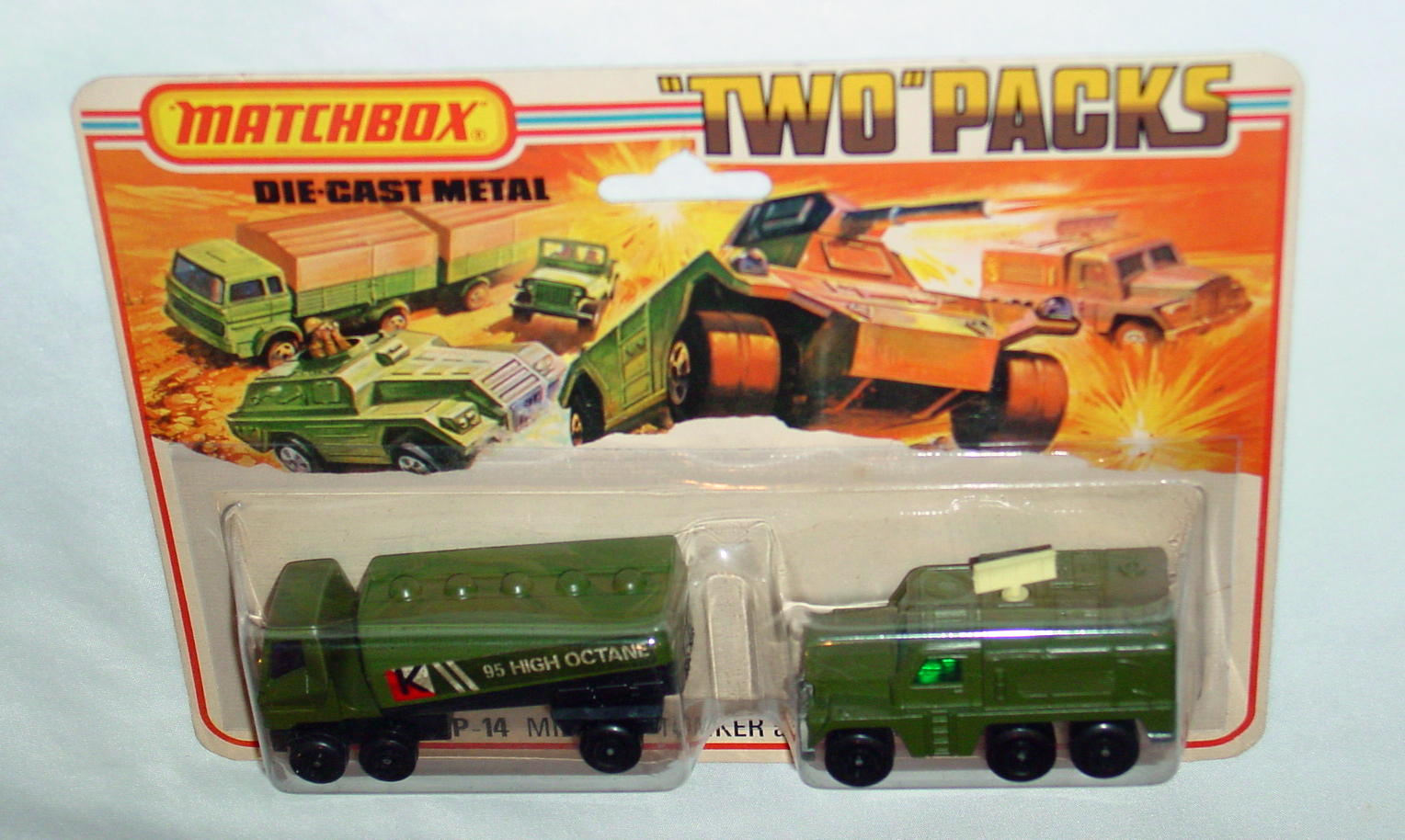 Twin Pack 14 A 3 - olive 63B4 Tanker olive 16A4 Badger C9.5 Tall card
