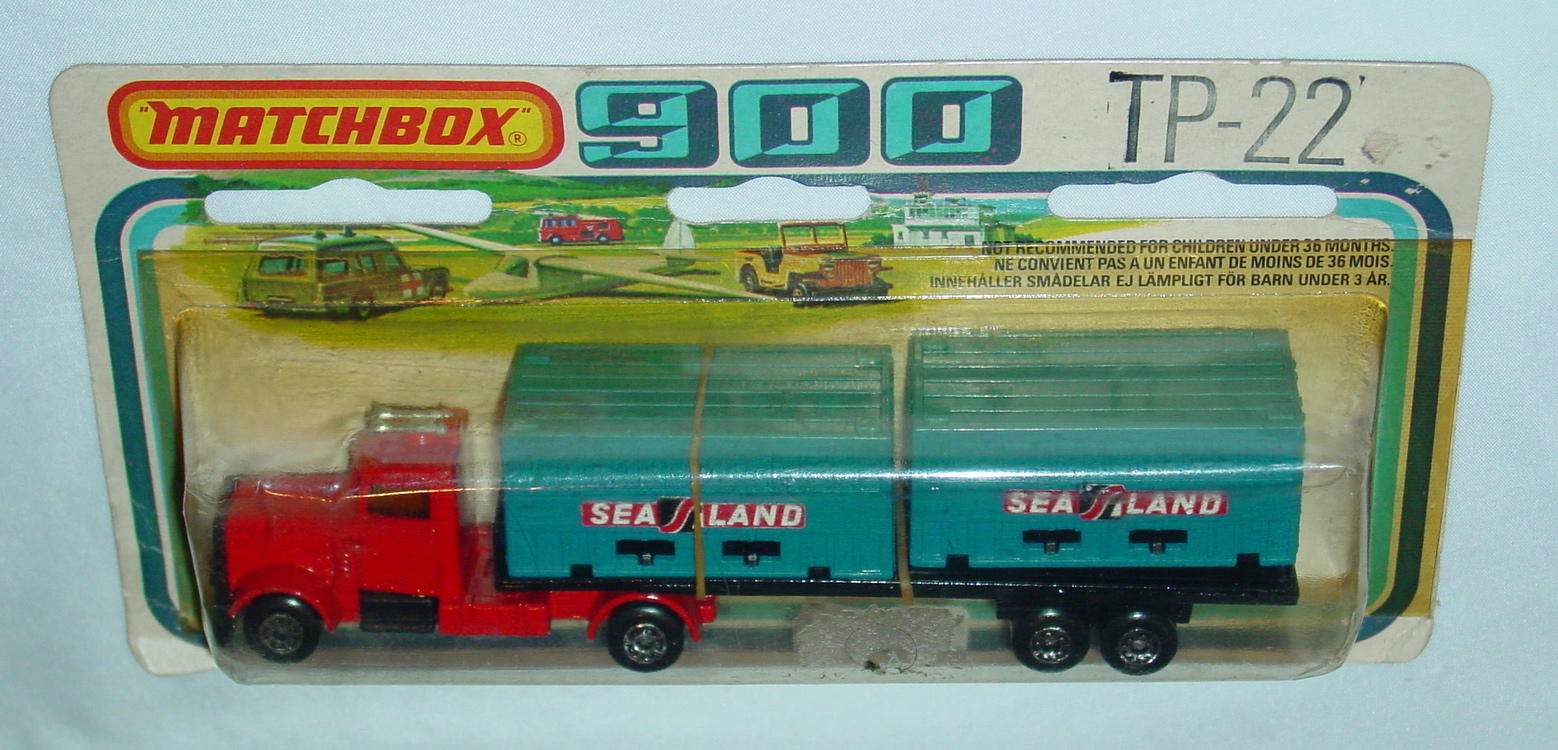Twin Pack 22 A 9 - Double Cont Truck Red BLUE containers Sealand C9-900