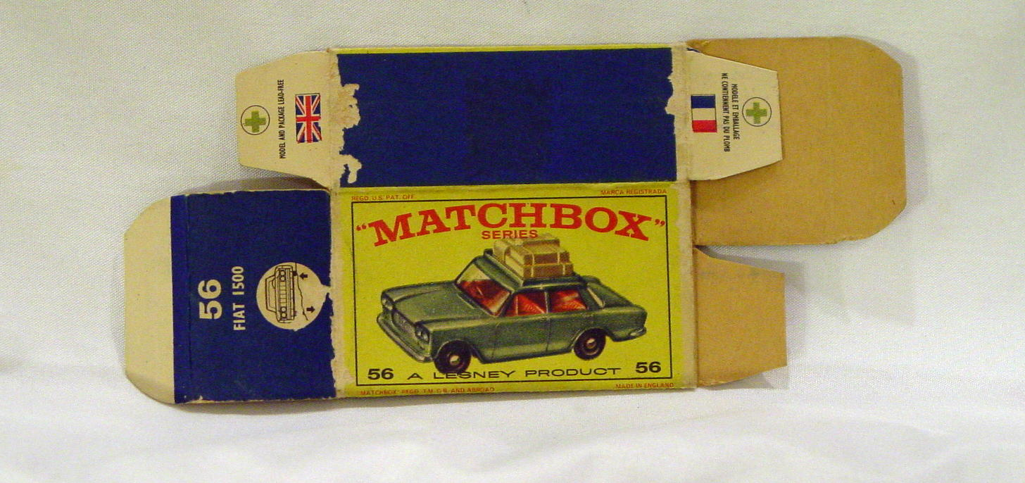 Empty Box 56 B - C8.5 E2 BOX ONLY