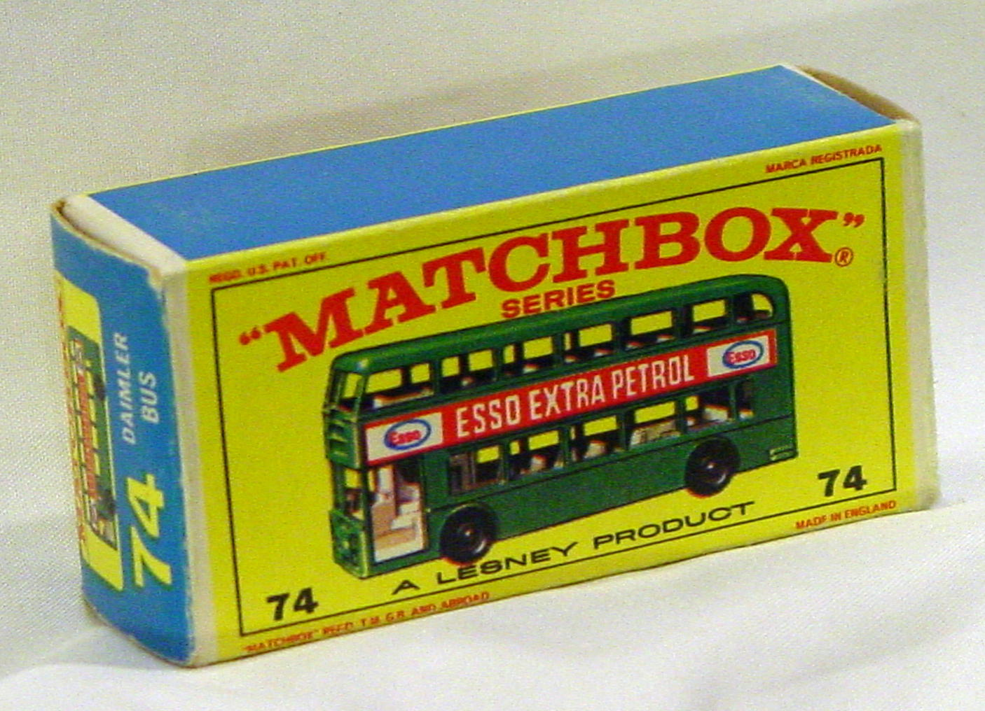 Empty Box 74 B - C9 E4 BOX ONLY showing green model