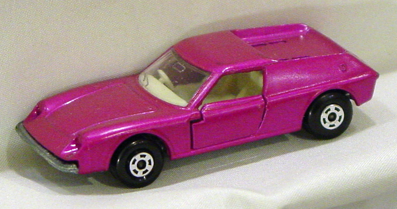 Lesney SuperFast 05 A 4 - Lotus Europa dull pink thick wheels three slight chips
