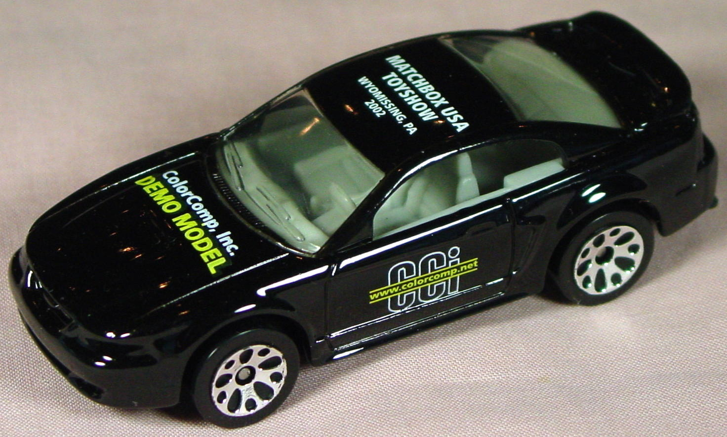 ASAP-CCI 17 I 24 - 99 Ford Mustang Black yellow Color Comp Demo MBXUSA
