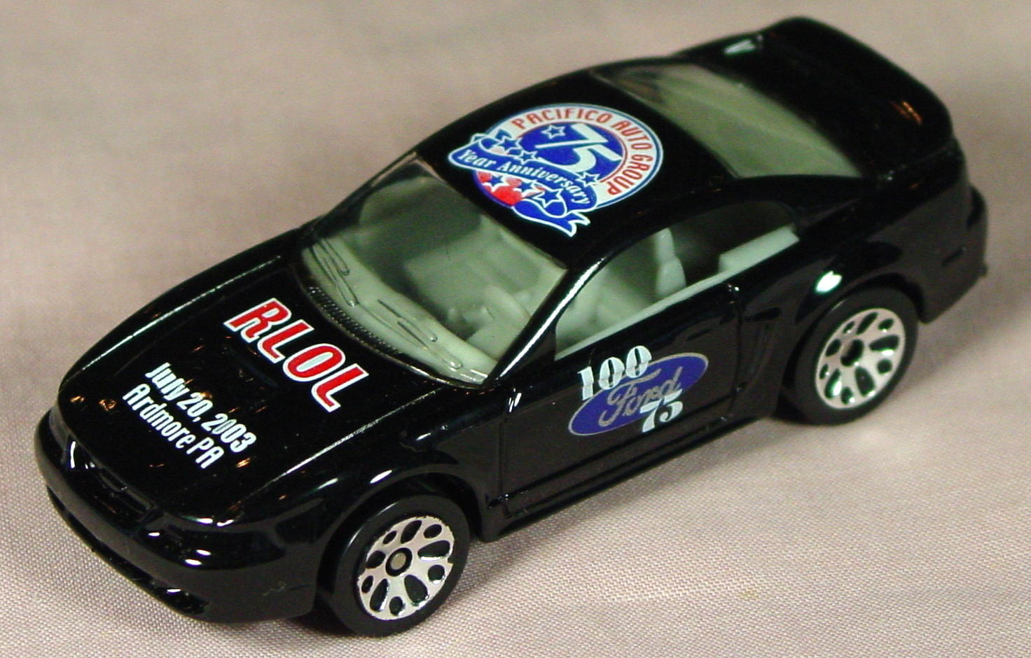 ASAP-CCI 17 I 28 - 99 Ford Mustang Black RLOL Pacifico 75th Ann CCI