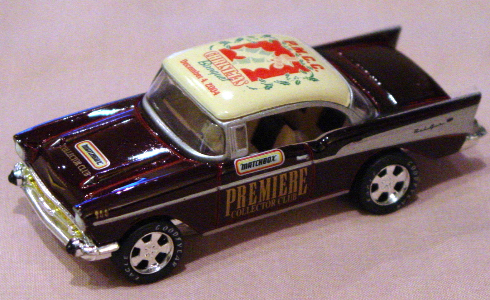 ASAP-CCI 31 L - 57 Chevy Bel Air Maroon and cream PMCC Christmas 2004