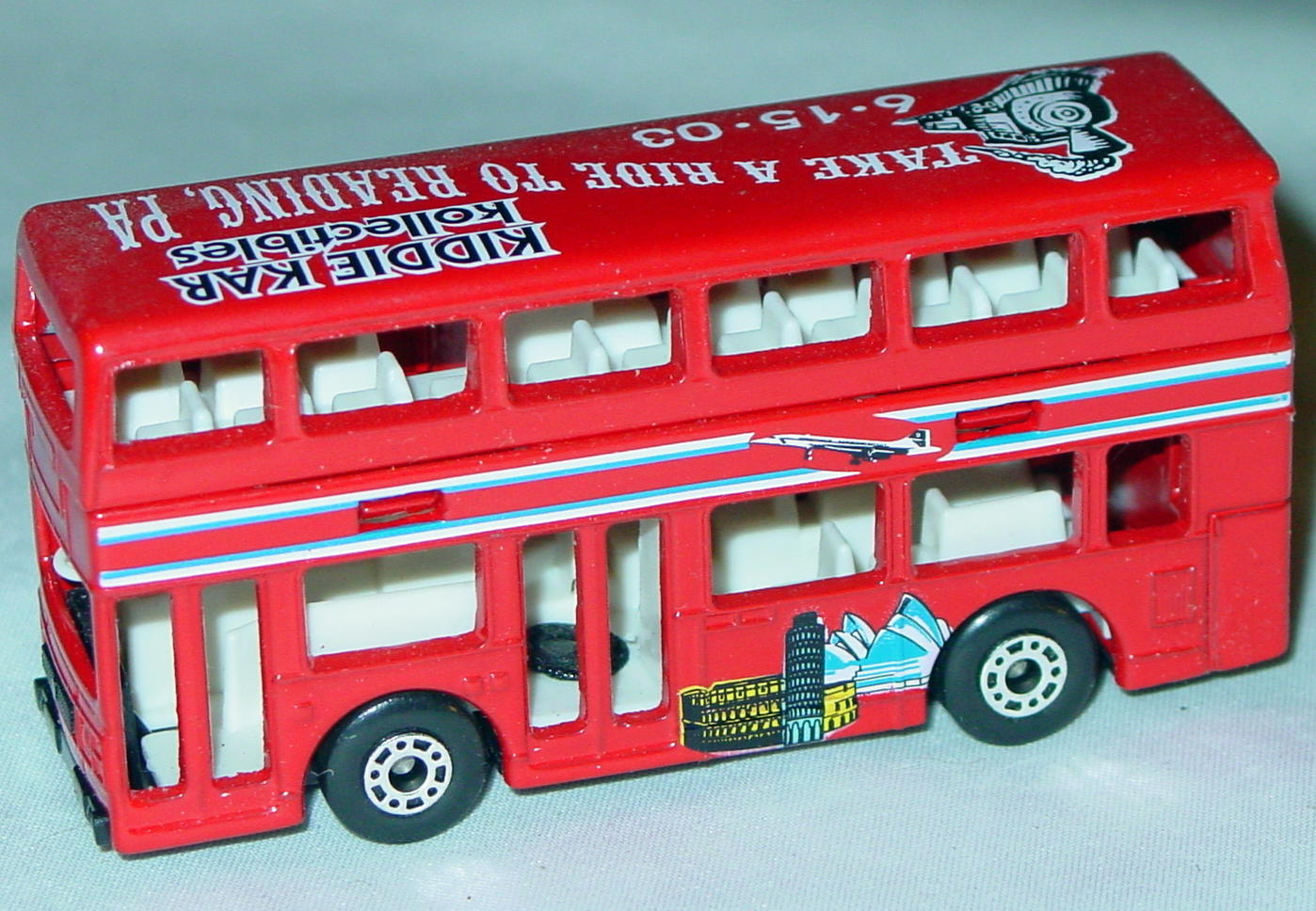 ASAP-CCI 17 C 67 - Titan Bus Red white interior Union Jack Kiddie Car CCI
