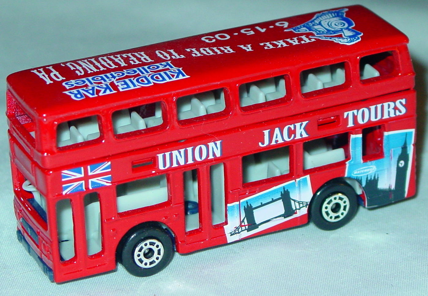 ASAP-CCI 17 C 68 - Titan Bus Red grey interior Union Jack Kiddie Car CCI