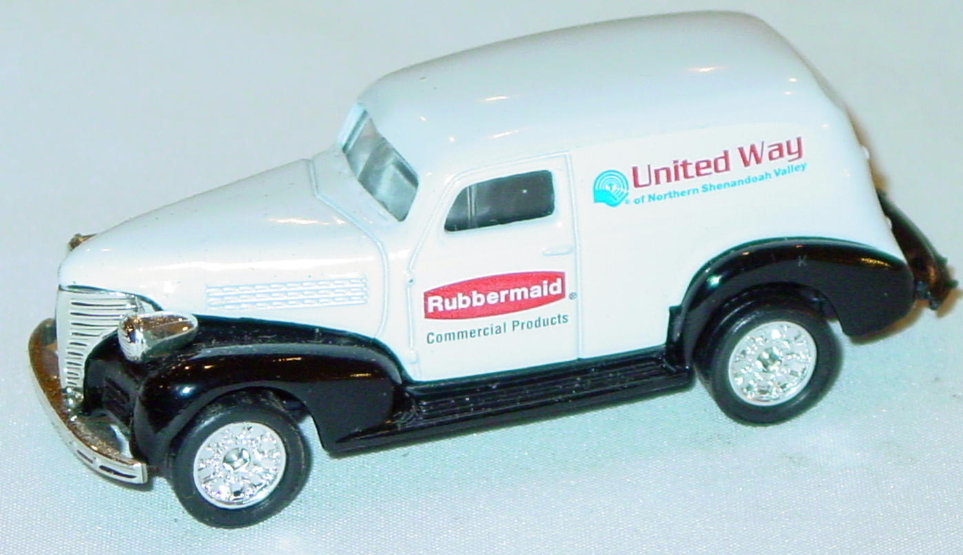 ASAP-CCI 215 A 32 - Chevy Panel Van White United Way Rubbermaid CCI