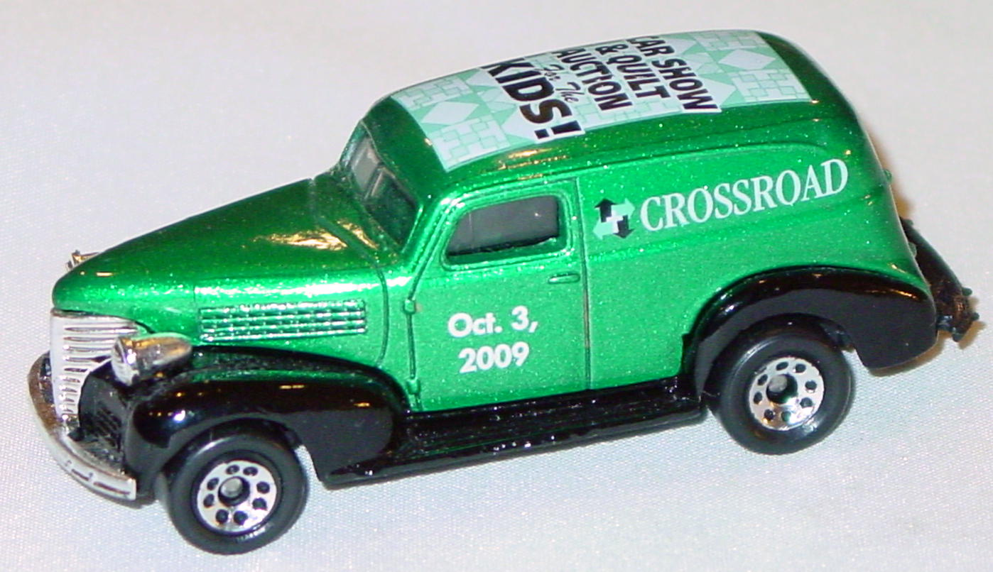 ASAP-CCI 215 A - Chevy Panel Van met Green Black Crossroad Quilt 2009