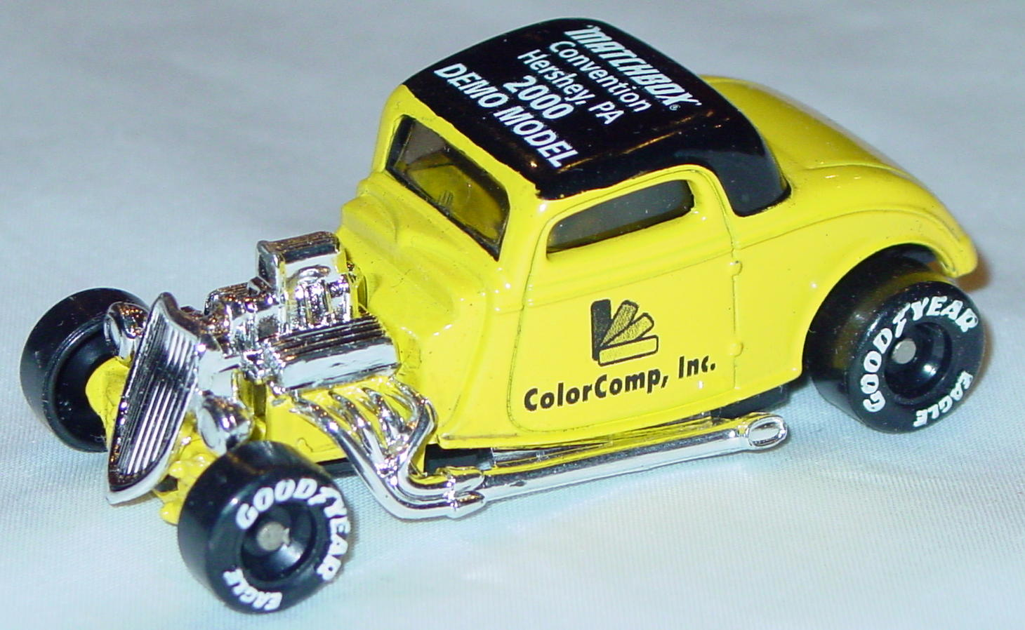 ASAP-CCI 34 I 15 - 33 Ford Coupe Lemon Matchbox 2000 Demo Color Comp