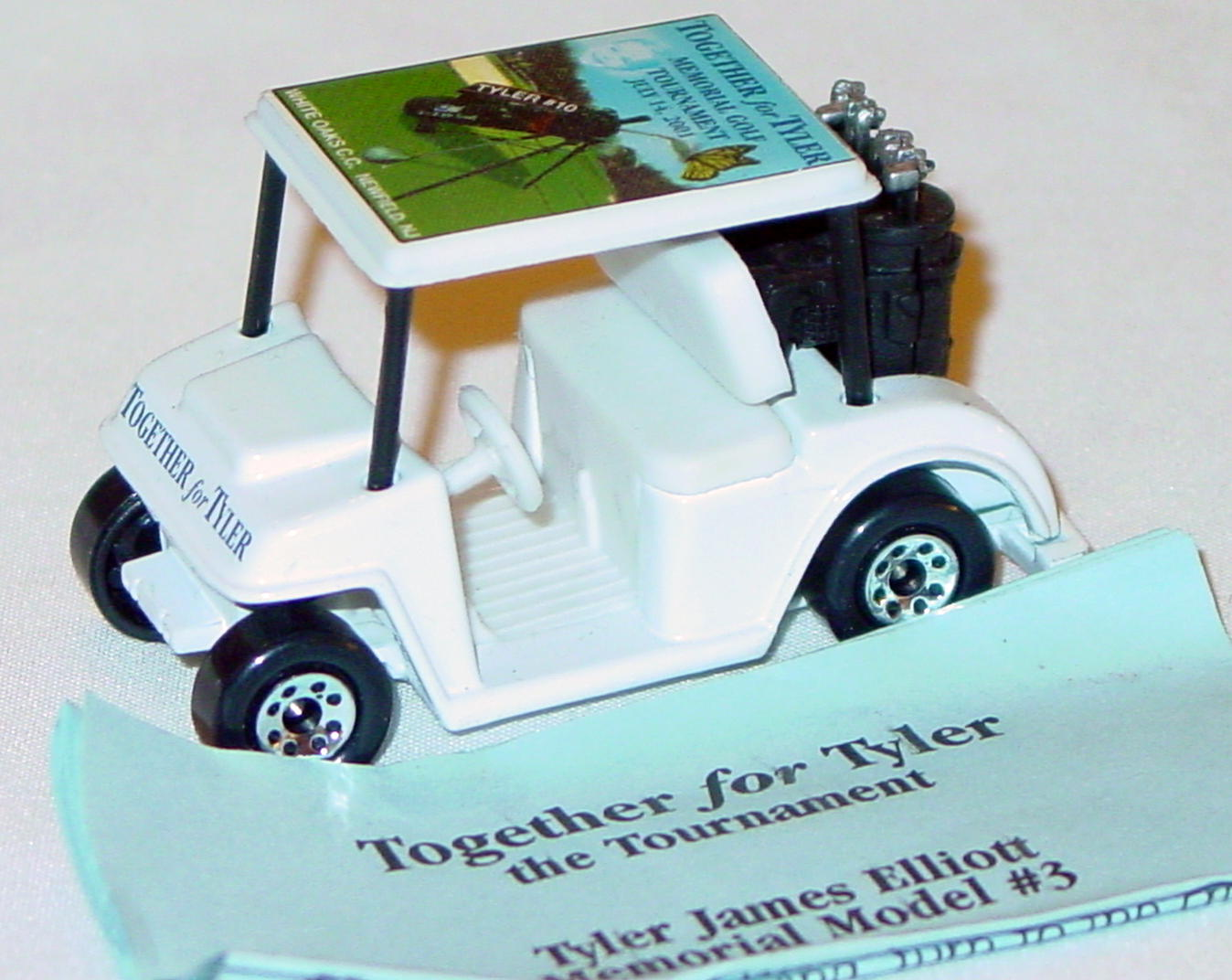 ASAP-CCI 75 J 8 - Golf Cart White Together for Tyler CCI