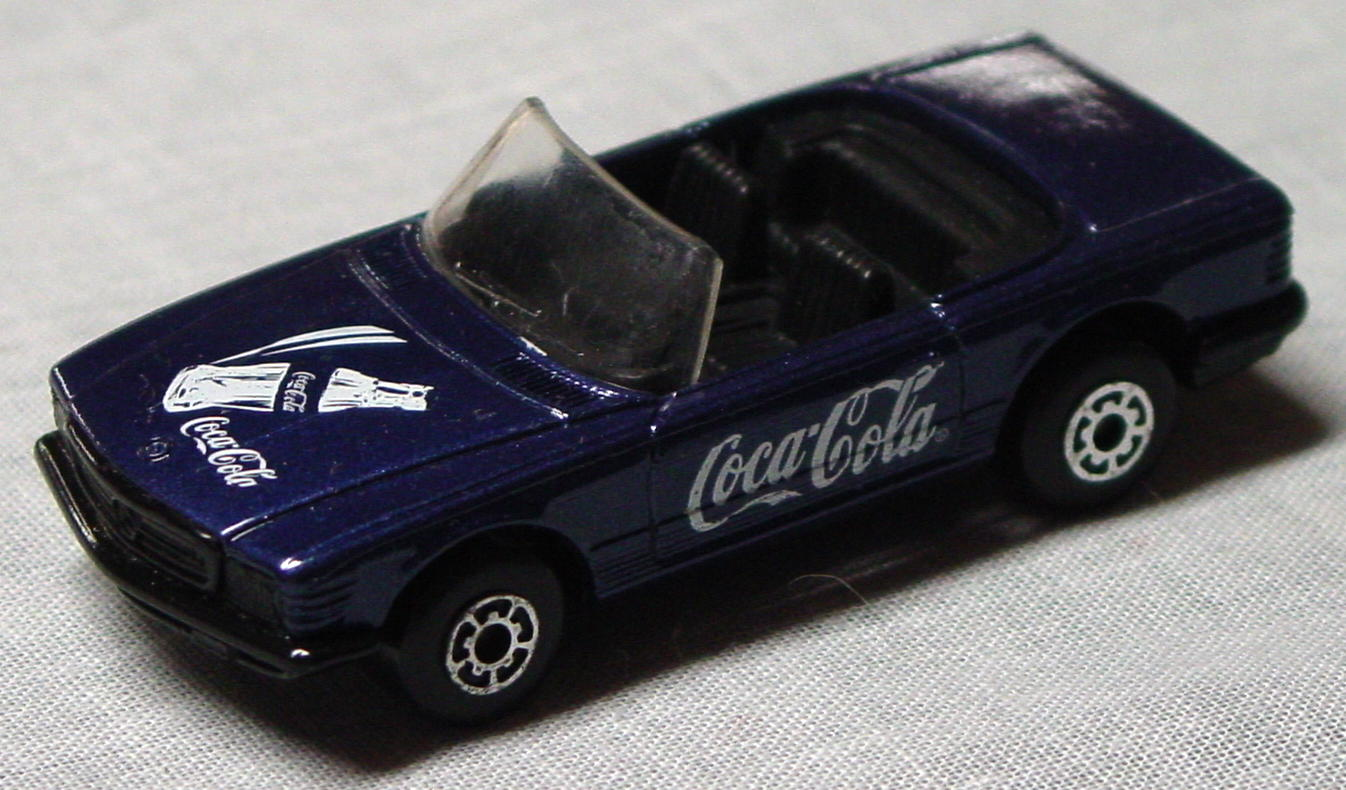 Bulgarian 06 B 1 - Mercedes 350SL met purp-Blue black base Coca Cola