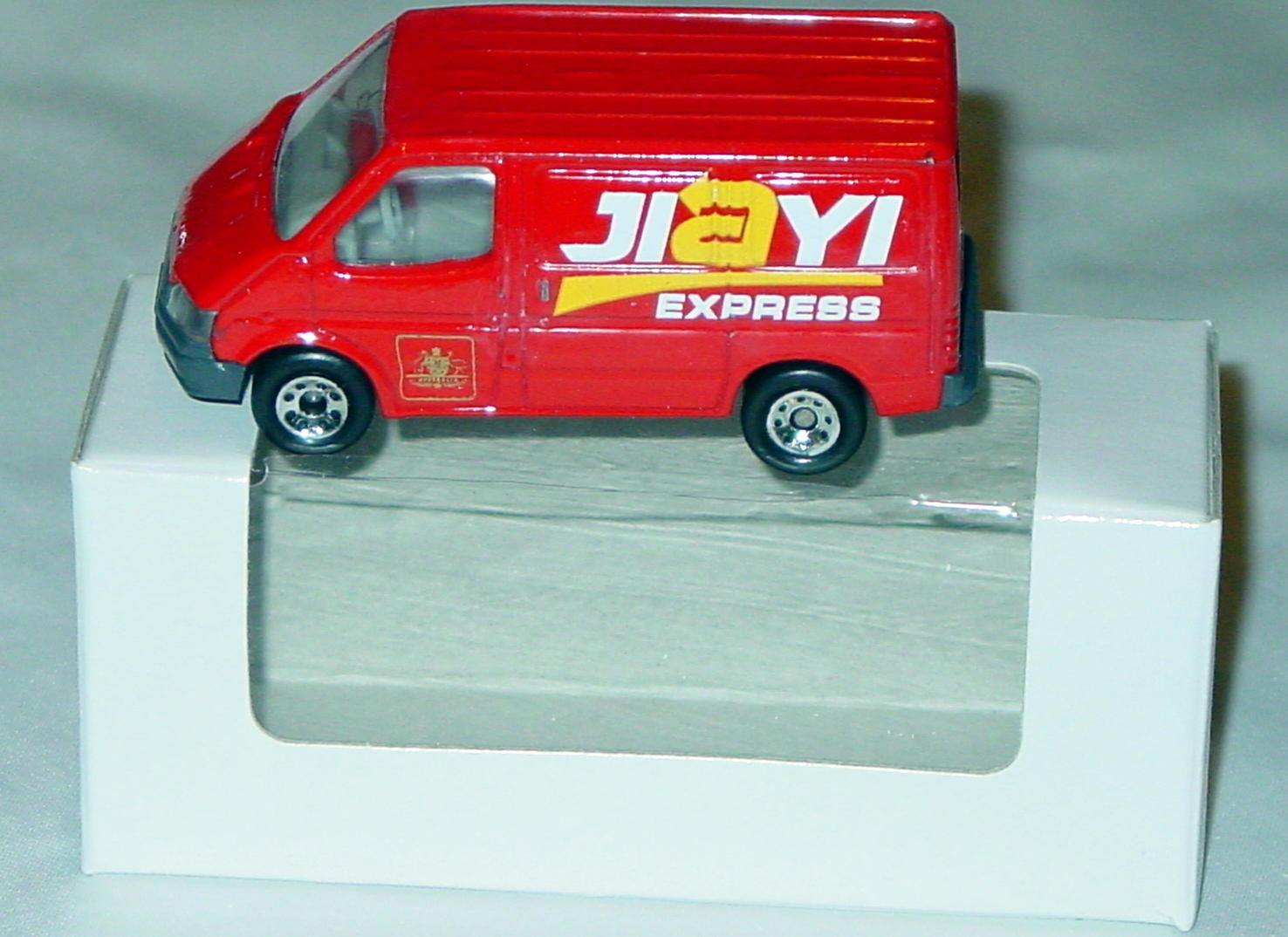 ASAP-CCI 15 K - MODELoftheMONTH 8/13Ford Transit Red Jiayi Express