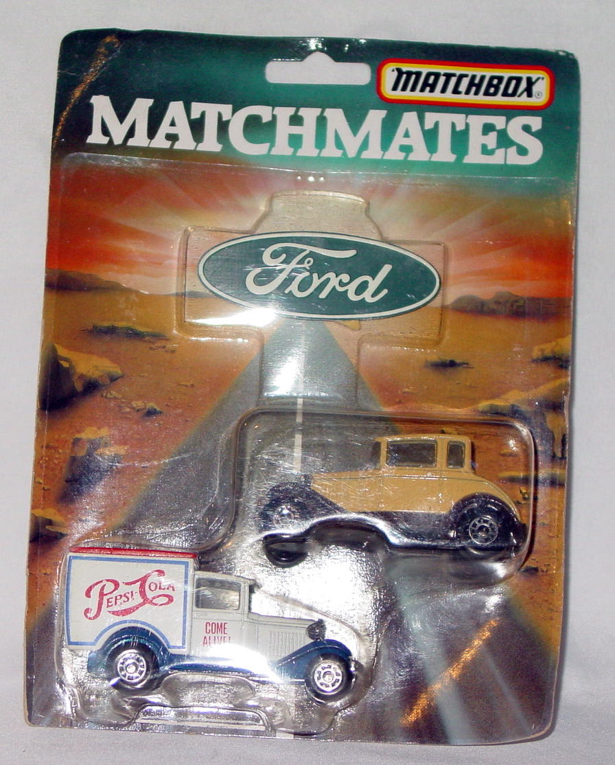 Lesney SuperFast - M-02-A MATCHMATES Ford 38E Pepsi73C tan/brown