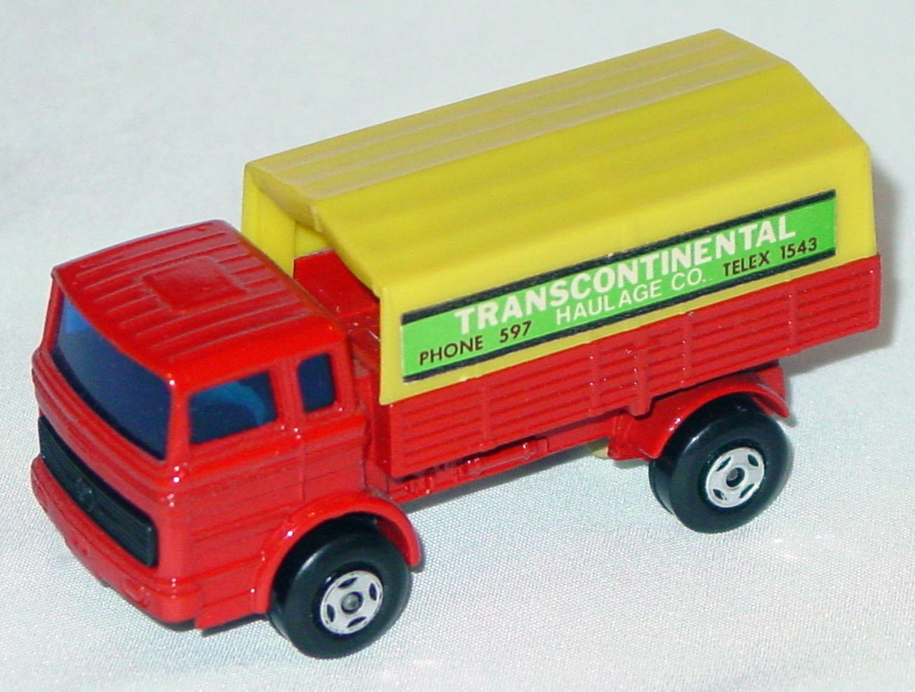 Lesney SuperFast 01 A 5 - Merc Truck Red and yellow Transcon no 1978 on base