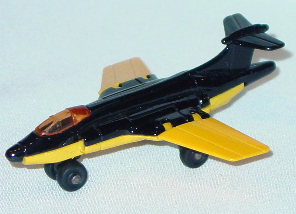 Lesney SuperFast 02 D 1 - S2 Jet black and lighter yellow amber canopy