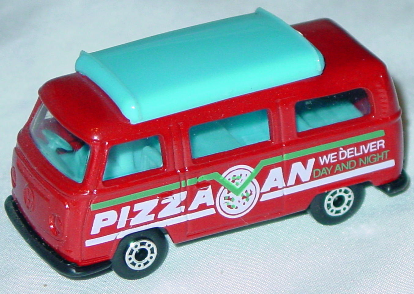 Hungarian 23 A 10 - Pizza Van Brick light blue top black white and green tampo