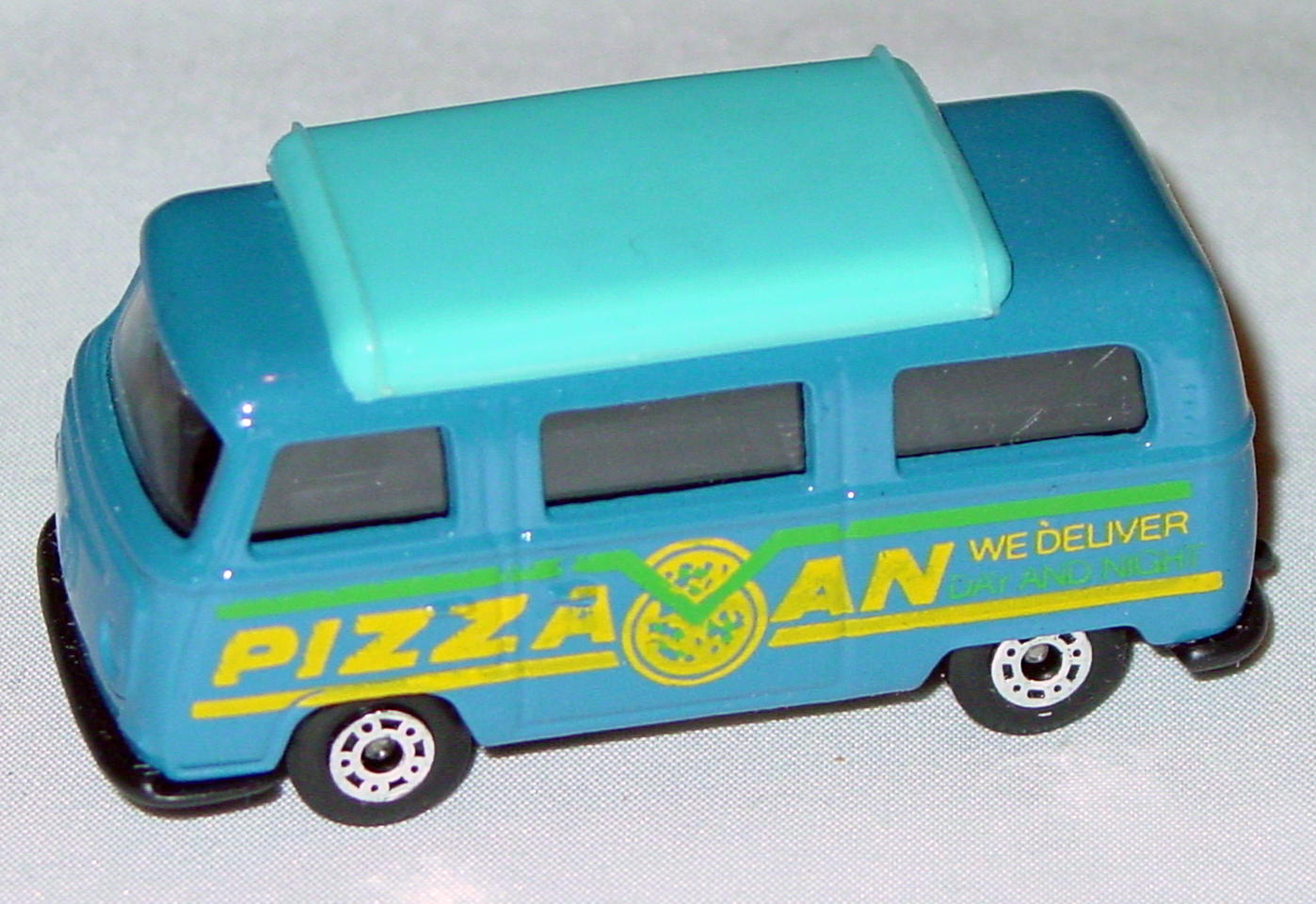 Hungarian 23 A 1 - Pizza Van Blue blue top black interior black yellow and green tampo