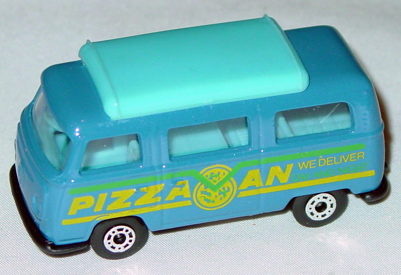Hungarian 23 A 1 - Pizza Van Blue blue top blue interior black yellow and green tampo