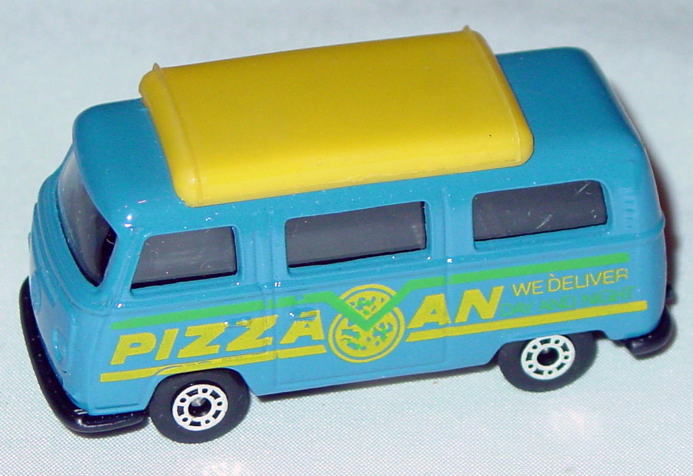 Hungarian 23 A 1 - Pizza Van Blue yellow top black interior black yellow and green tampo