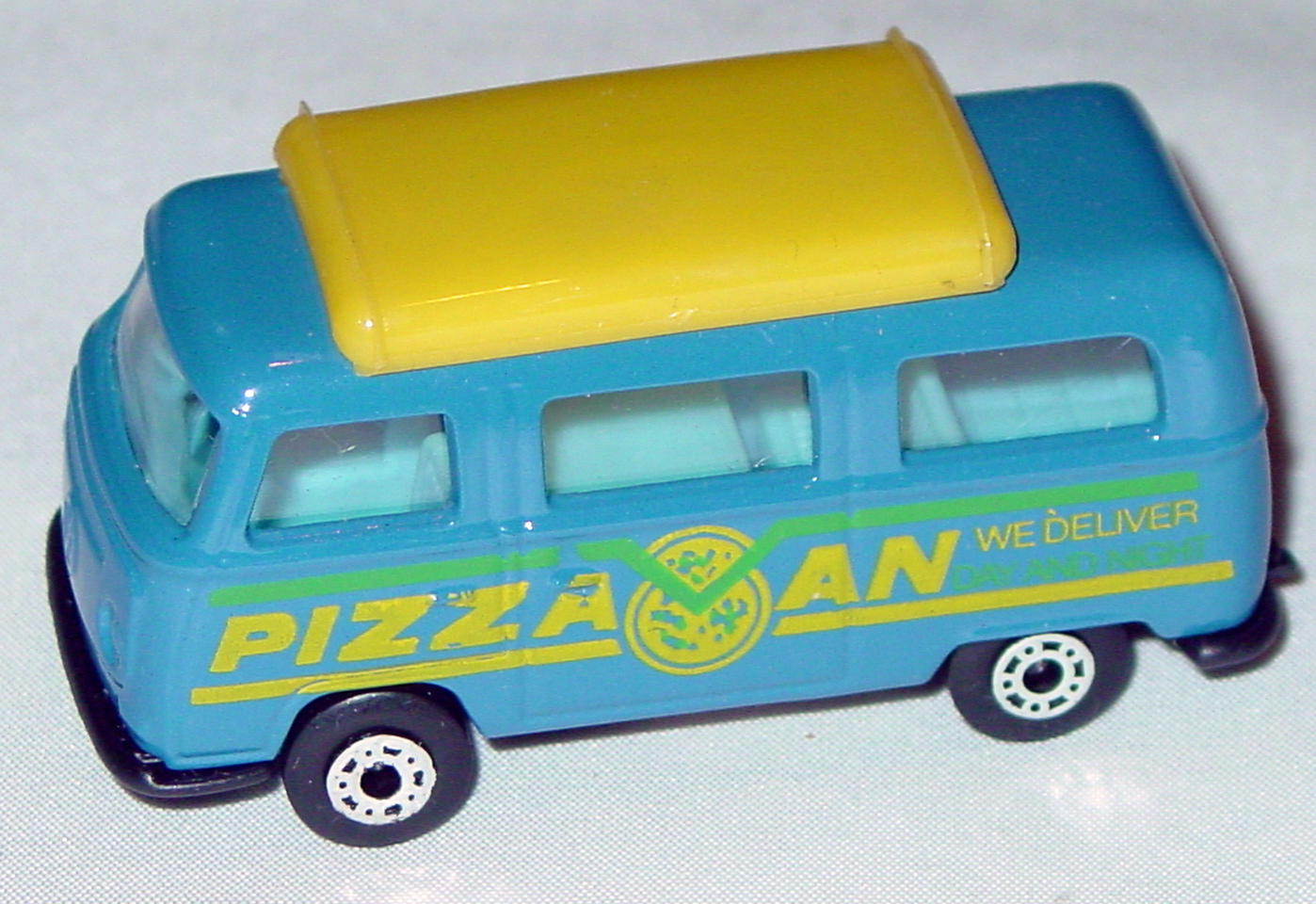 Hungarian 23 A 1 - Pizza Van Blue yellow top blue interior black yellow and green tampo