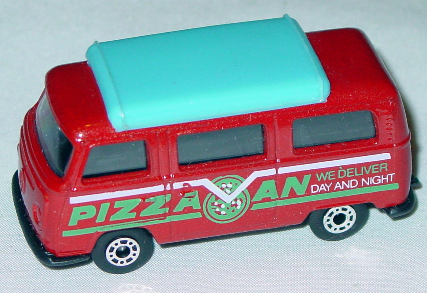 Hungarian 23 A 10 - Pizza Van Brick light blue top black interior black green and white tampo